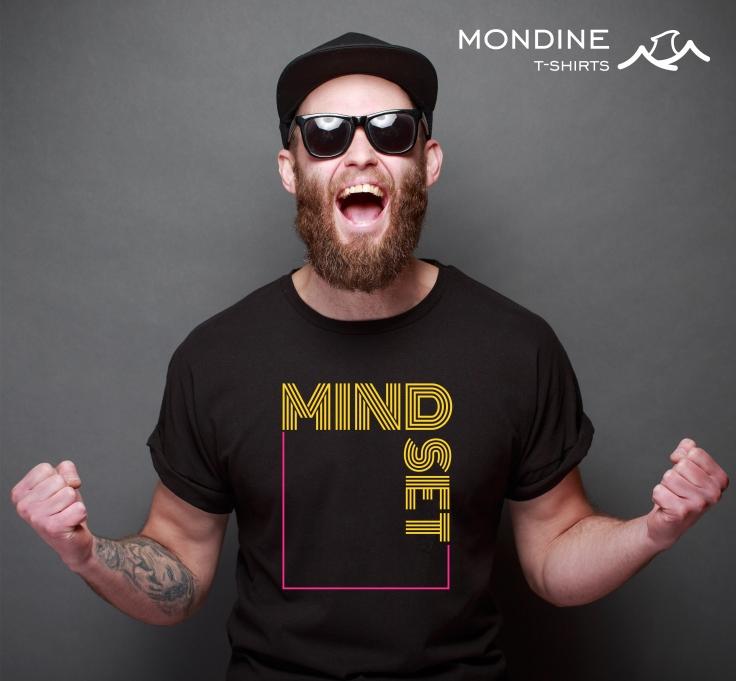 Mindset- Camiseta Masculina Preta - Mondine T-Shirts